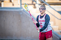 STANFORD, CA - MARCH 12: Ashley Humphrey during a game between Arizona State University and Stanford Lacrosse at Stanford Stadium on March 12, 2021 in Stanford, California.