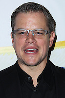 """WEST HOLLYWOOD, CA - NOVEMBER 13: Matt Damon at the """"Stand Up For Gus"""" Benefit held at Bootsy Bellows on November 13, 2013 in West Hollywood, California. (Photo by Xavier Collin/Celebrity Monitor)"""