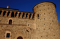 Graffignano: Here is a corner of the Baglioni castle, with its tower, that dates back to the XIII century.