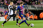 Sergi Roberto Carnicer of FC Barcelona (R) in action against Andreas Pereira of Valencia CF (L) during the Copa Del Rey 2017-18 match between FC Barcelona and Valencia CF at Camp Nou Stadium on 01 February 2018 in Barcelona, Spain. Photo by Vicens Gimenez / Power Sport Images