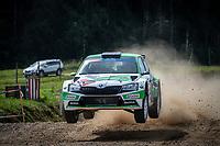3rd July 2021, Liepaja, Latvia;  02 MIKKELSEN Andreas (NOR), FLOENE Ola (NOR), TOKSPORT WRT, ¦koda Fabia Evo, during the 2021 FIA ERC Rally Liepaja, 2nd round of the 2021 FIA European Rally Championship