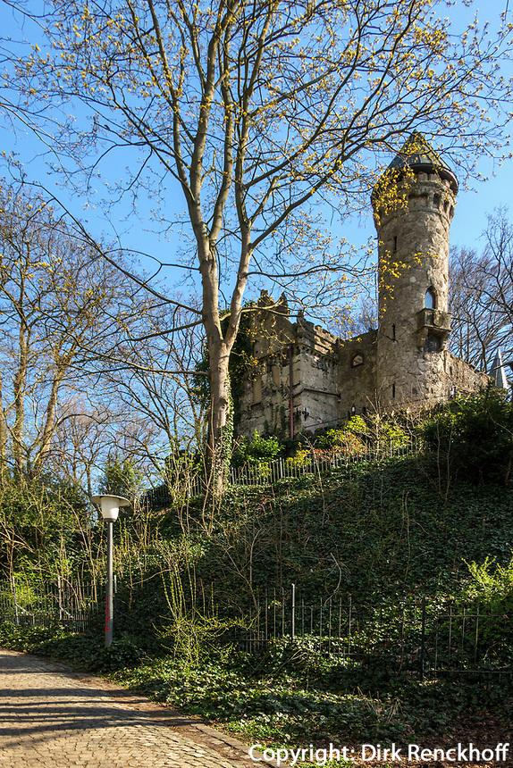 Alsterschlösschen-neogotische Burg Henneberg erbaut 1884-1887 von Pieper, Hamburg-Poppenbüttel, Deutschland, Europa<br /> Alsterschlösschen-neo-Gothic castle Burg Henneberg, built 1884-1887 by Pieper in Hamburg-Poppenbüttel, Germany, Europe