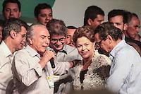 BRASÍLIA, DF 02 DE MARÇO 2013 - CONVENÇÃO NACIONAL DO PMDB EM BRASÍLIA.  A Presidente da Republica Dilma Rousseff e o vice presidente Michel Temer durante convensão nacional do PMDB no Auditório do Centro Empresarial Brasil 21  em Brasilia neste sabado, 02.  FOTO RONALDO BRANDÃO/BRAZIL PHOTO PRESS