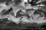 Chile, Patagonia, Torres del Paine National Park, Paine Massif, Cordillera Paine, Los Cuernos