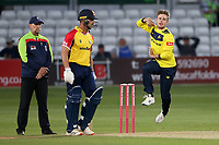 Mason Crane in bowling action for Hampshire during Essex Eagles vs Hampshire Hawks, Vitality Blast T20 Cricket at The Cloudfm County Ground on 11th June 2021