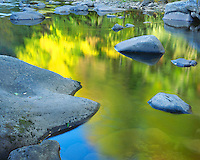 Fall color reflections in the Williams River; Monongahela National Forest, WV