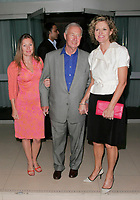Sir Terence Conran, Lady Victoria Conran<br /> The Laurent-Perrier Pink Party, Suka, Sanderson Hotel, London, England.<br /> April 25th, 2007<br /> full length terrence grey gray suit pink orange dress clutch whit top black skirt <br /> CAP/AHf<br /> ©Adam Houghton/Capital Pictures
