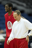 SAN ANTONIO, TX - MARCH 21, 2007: The Ohio State University Buckeyes prepare for the NCAA Men's Basketball South Regional during practice day at the Alamodome. (Photo by Jeff Huehn)