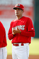 June 19, 2009:  Pitcher John Folino of the Batavia Muckdogs during introductions before a game at Dwyer Stadium in Batavia, NY.  The Muckdogs are the NY-Penn League Short-Season Class-A affiliate of the St. Louis Cardinals.  Photo by:  Mike Janes/Four Seam Images
