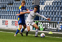 Josh Vela of Shrewsbury Town holds off Daniel Csoka of AFC Wimbledon during AFC Wimbledon vs Shrewsbury Town, Sky Bet EFL League 1 Football at The Kiyan Prince Foundation Stadium on 17th October 2020