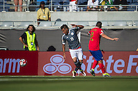 Orlando, Florida - Saturday, June 04, 2016: Paraguayan forward Dario Lezcano (19) looks to gather a loose ball during a Group A Copa America Centenario match between Costa Rica and Paraguay at Camping World Stadium.
