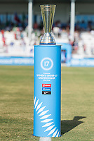 Bradenton, FL - Sunday, June 12, 2018: Champion's trophy during a U-17 Women's Championship Finals match between USA and Mexico at IMG Academy.  USA defeated Mexico 3-2 to win the championship.