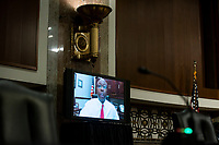 United States Senator Tim Scott (Republican of South Carolina), speaks via teleconference during a Senate Health, Education, Labor and Pensions Committee hearing in Washington, D.C., U.S., on Tuesday, June 30, 2020. Top federal health officials are expected to discuss efforts to get back to work and school during the coronavirus pandemic. <br /> Credit: Al Drago/CNP/AdMedia