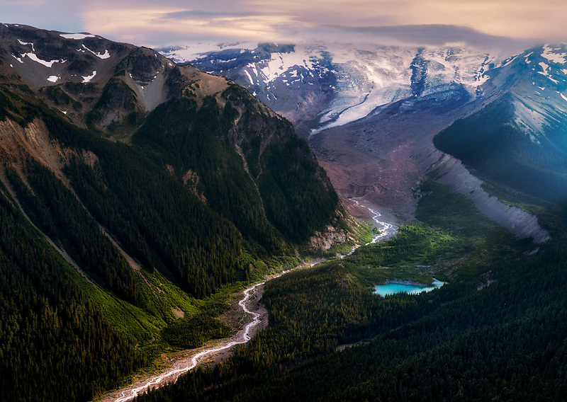 Glaciated valley. Sunrise side. Mt. Rainier National Park, Washington