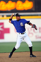 May 14 2009: Carlos Colmenares of the Rancho Cucamonga Quakes before game against the High Desert Mavericks at The Epicenter in Rancho Cucamonga,CA.  Photo by Larry Goren/Four Seam Images