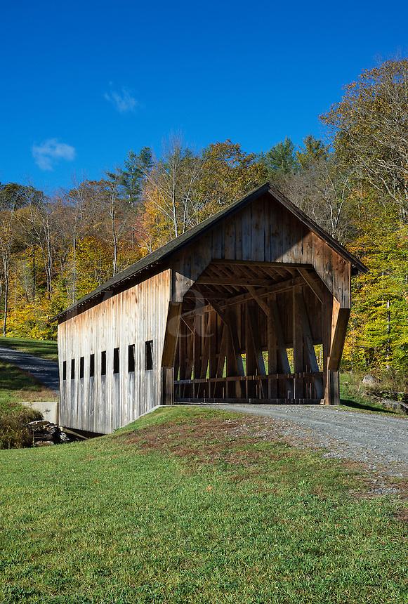Rustic covered bridge, Reading, Vermont, USA