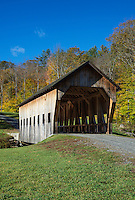 Rustic covered bridge, Reading, Vermont, USA