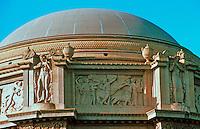 Bernard Maybeck: Palace of Fine Arts, San Francisco. Close up of dome. Photo '83.