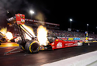 Aug 30, 2019; Clermont, IN, USA; NHRA top fuel driver Doug Kalitta during qualifying for the US Nationals at Lucas Oil Raceway. Mandatory Credit: Mark J. Rebilas-USA TODAY Sports