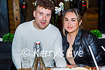 Enjoying the evening in Gally's on Saturday, l to r: Timmy Murphy and Hannah Bobbin.