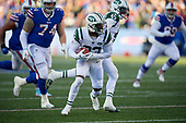 New York Jets Terrence Brooks (23) looks to run up field after recovering a fumble during an NFL football game against the Buffalo Bills, Sunday, December 9, 2018, in Orchard Park, N.Y.  (Mike Janes Photography)