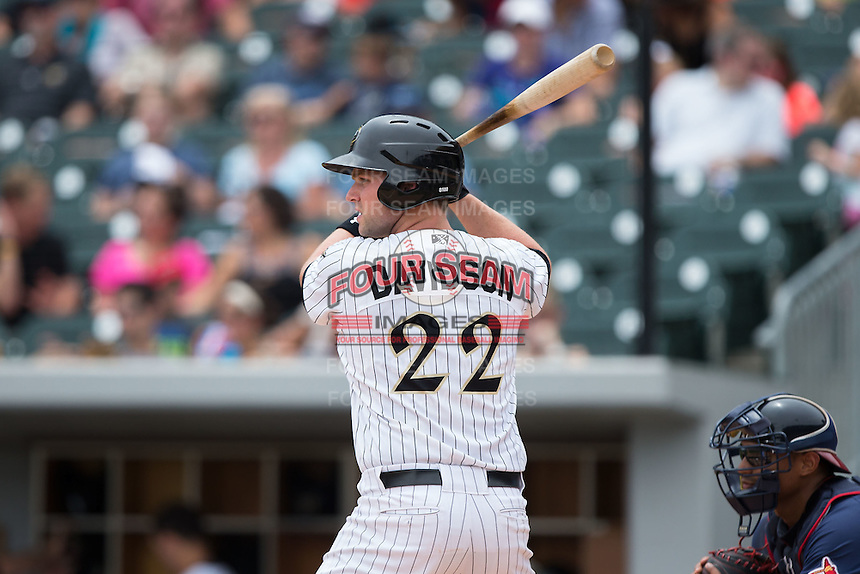 Matt Davidson (22) of the Charlotte Knights at bat against the Gwinnett Braves at BB&T BallPark on July 3, 2015 in Charlotte, North Carolina.  The Braves defeated the Knights 11-4 in game one of a day-night double header.  (Brian Westerholt/Four Seam Images)