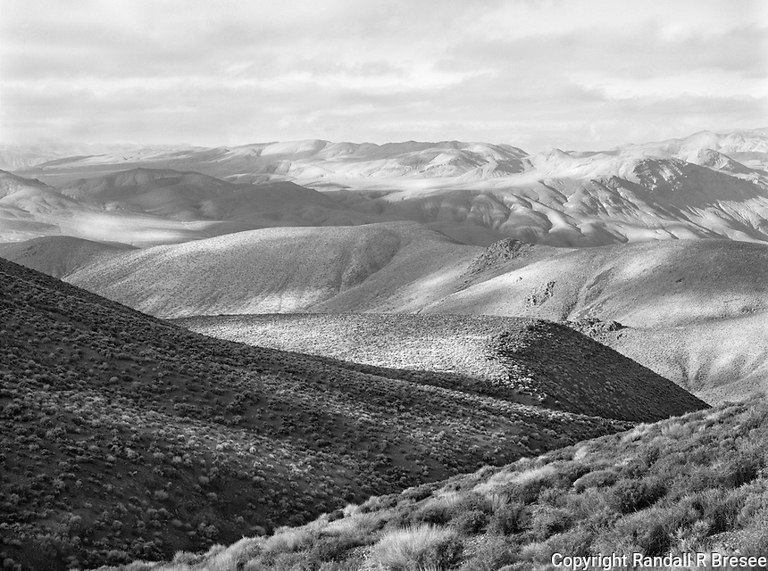 """""""Aguereberry Point"""" <br /> Death Valley National Park, California<br /> <br /> Death Valley National Park is far more than a valley. This photograph shows the wonderful texture in the park at an elevation above 6,000 feet. I used a medium yellow filter to strengthen textures in this black and white photograph."""