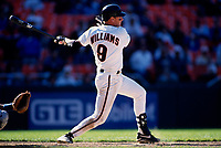 SAN FRANCISCO, CA:  Matt Williams of the San Francisco Giants bats during a game against the Los Angeles Dodgers at Candlestick Park in San Francisco, California on May 1, 1995. (Photo by Brad Mangin)