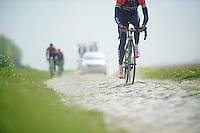 in sector 5: Pavé de la Justice / Pavé de Camphin-en-Pévèle<br /> <br /> 2014 Paris-Roubaix reconnaissance