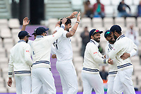 Ishant Sharma, India and India celebrate the wicket of Nicholls during India vs New Zealand, ICC World Test Championship Final Cricket at The Hampshire Bowl on 22nd June 2021