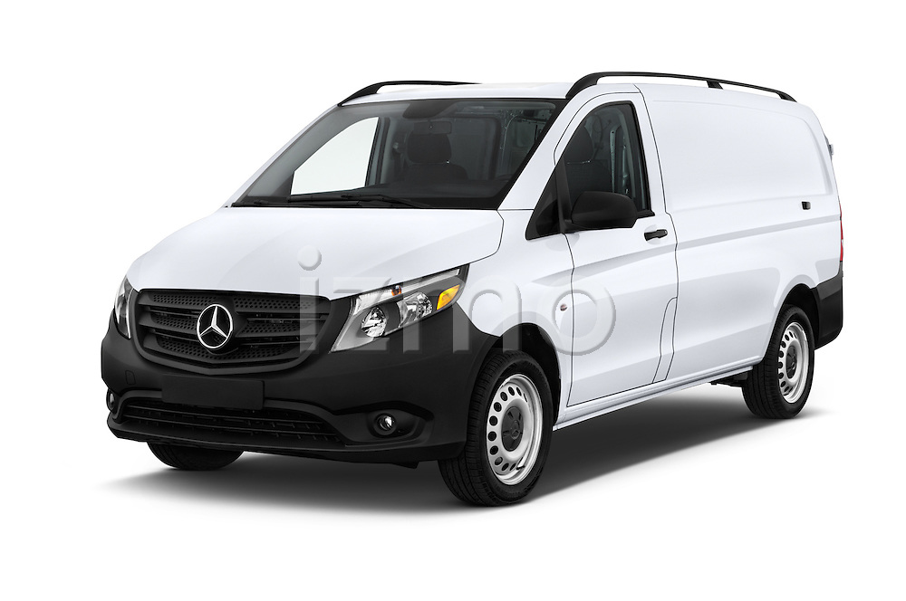 2016 Mercedes Benz Metris Cargo-Van 4 Door Cargo Van Angular Front stock photos of front three quarter view