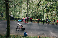 Phil Bauhaus (DEU/Sunweb) dropped from the group<br /> <br /> Time Trial through the magnificent Lake District National Park in Cumbria<br /> <br /> Stage 5 (TTT): Cockermouth to Whinlatter Pass (14km)<br /> 15th Ovo Energy Tour of Britain 2018