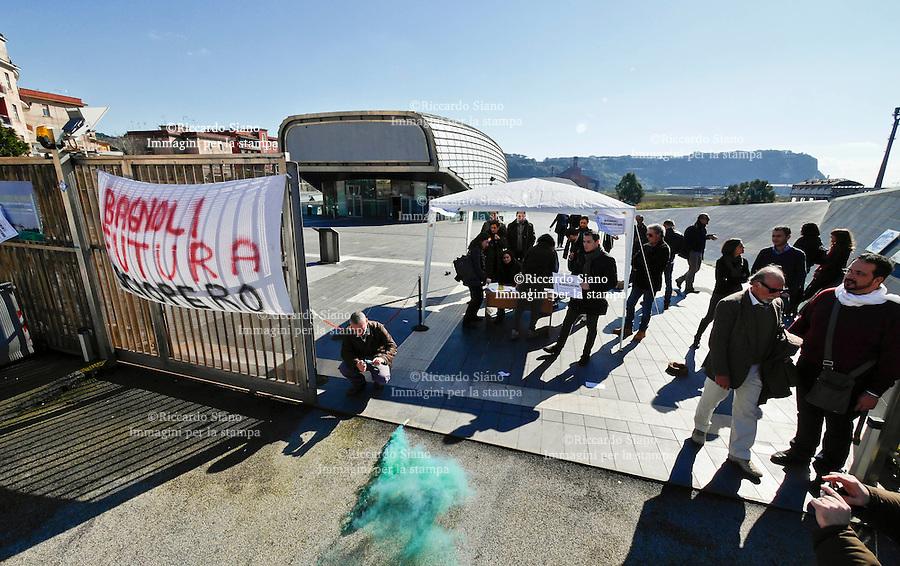- NAPOLI  13  FEB    2014 -  Sciopero lavoratori Bagnolifutura