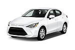 2016 Scion iA 4 Door Sedan Angular Front stock photos of front three quarter view
