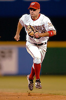 3 September 2005: Jamey Carroll, utility infielder for the Washington Nationals, during a game against the Philadelphia Phillies. The Nationals defeated the Phillies 5-4 at RFK Stadium in Washington, DC. <br />