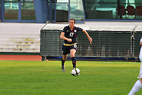 Meghan Schnur carries the ball. The USWNT defeated Iceland (2-0) at Vila Real Sto. Antonio in their opener of the 2010 Algarve Cup on February 24, 2010.