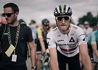 British champion Steve Cummings (GBR/Dimension Data) post-race<br /> <br /> 104th Tour de France 2017<br /> Stage 10 - Périgueux › Bergerac (178km)