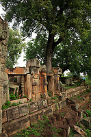 Battambang - Cambodia - June 2020<br /> Ruins of WAT EK PHNOM in early morning