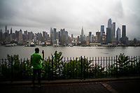"""NEW YORK, NY - AUGUST 4: The Empire State Building and Middle Manhattan are pictured as city gets ready for tropical storm Isaias on August 4, 2020 in New York City. The Tri-State area """"New York, New Jersey and Connecticut"""" is preparing for torrential rain, strong winds from Tropical storm Isaias. (Photo by Eduardo MunozAlvarez/VIEWpress)"""