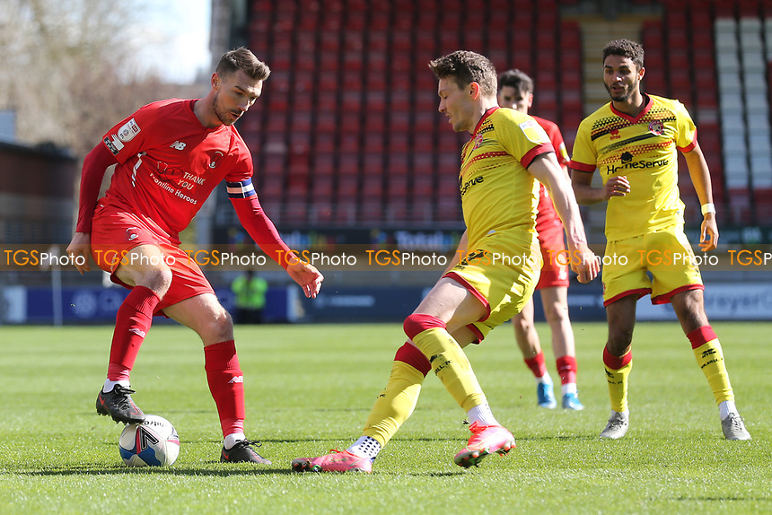 Craig Clay of Leyton Orient and Caolan Lavery of Walsall during Leyton Orient vs Walsall, Sky Bet EFL League 2 Football at The Breyer Group Stadium on 5th April 2021