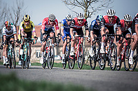 a very focused Mathieu van der Poel (NED/Corendon Circus) in the front group.<br /> <br /> 82nd Gent – Wevelgem in Flanders Fields 2019 (1.UWT)<br /> Deinze – Wevelgem: 251,5km<br /> ©kramon
