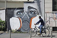 - Milano, arte di strada ai tempi del'epidemia di Coronavirus<br />