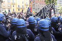 """- Milan, demonstration of the neonazi group """"Forza Nuova""""<br /> <br /> - Milano, manifestazione del gruppo neonazista """"Forza Nuova"""""""