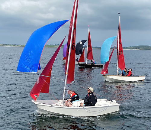 The Mirror Nationals at Sligo, venue for the 2021 Mirror Worlds. The winner in the 2020 Nationals was Lough Ree's Caolan Croasdell (foreground). Photo: Con Murphy