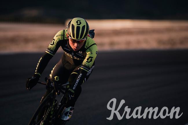Caleb Ewan (AUS/Michelton-Scott) during TTT training at dawn at the Circuito de Almeria Fans<br /> <br /> Michelton-Scott training camp in Almeria, Spain<br /> february 2018