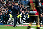Coach Miguel Angel Sanchez Munoz of Rayo Vallecano during La Liga match between Real Madrid and Rayo Vallecano at Santiago Bernabeu Stadium in Madrid, Spain. December 15, 2018. (ALTERPHOTOS/Borja B.Hojas)