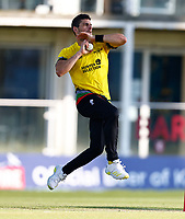 Benny Howell bowls for Gloucestershire during Kent Spitfires vs Gloucestershire, Vitality Blast T20 Cricket at The Spitfire Ground on 13th June 2021