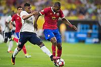 Action photo during the match Colombia vs Costa Rica at  NRG Stadium Copa America Centenario 2016. ---Foto  de accion durante el partido Colombia vs Costa Rica, En el Estadio NRG Partido Correspondiante al Grupo - A -  de la Copa America Centenario USA 2016, en la foto: (i)-(d) Roger Martinez, Kendall Watson<br /> <br /> --- 11/06/2016/MEXSPORT/Omar Martinez.