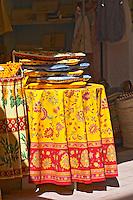 shop with colourful tissues beaune cote de beaune burgundy france