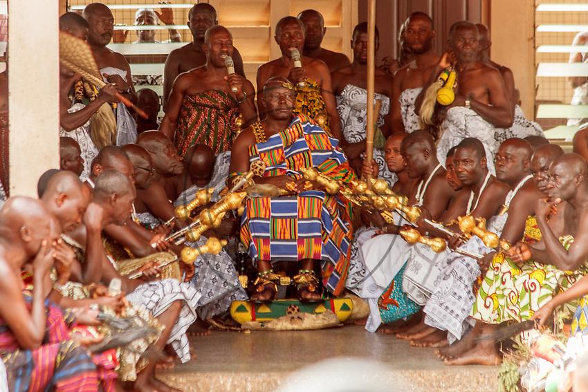 Africa, Ghana, Kumasi Ashanti King Otunfuoosu II